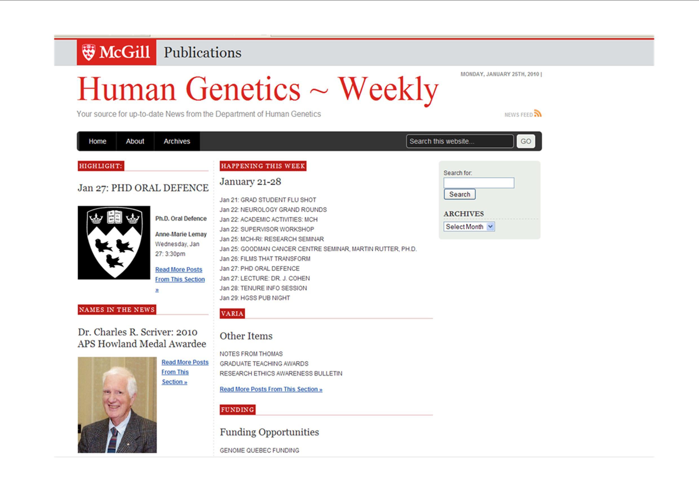 Human Genetics_weekly bulletin