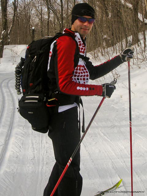 <strong><em>McGill University 4th year medical student Justyn Lutfy, during a recent ski trip at Gatineau Parc. Photo courtesy of Justyn Lutfy.</em></strong>