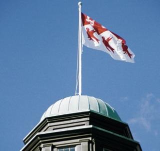 McGill flag on building