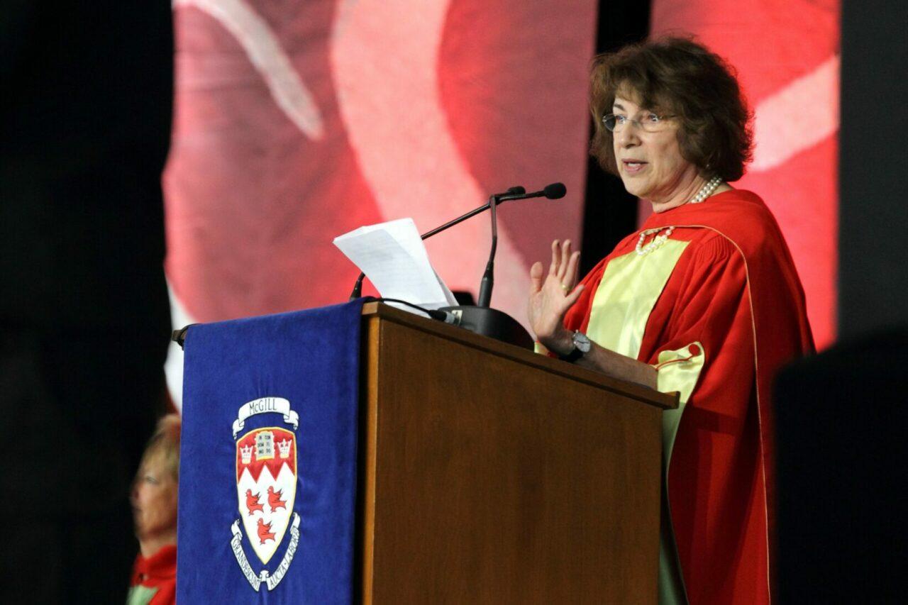 Honorary Doctorate recipient Dr. Carol Moss Prives (Photo: Owen Egan)