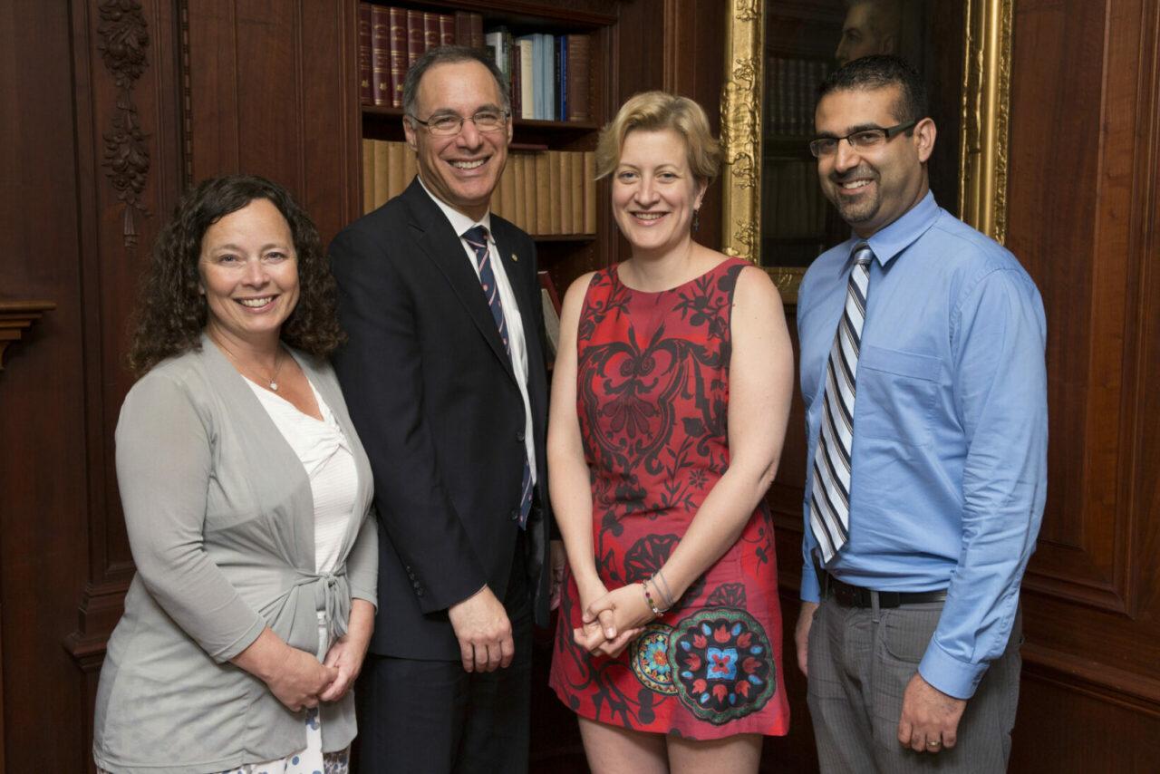 Isabelle Gagnon, Dean David Eidelman, Gillian Bartlett-Esquilant et Farhan Bhanji (Photo: Paul Fournier)