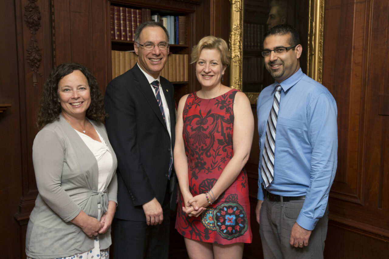 Isabelle Gagnon, Dean David Eidelman, Gillian Bartlett-Esquilant and Farhan Bhanji (Photo: Paul Fournier)