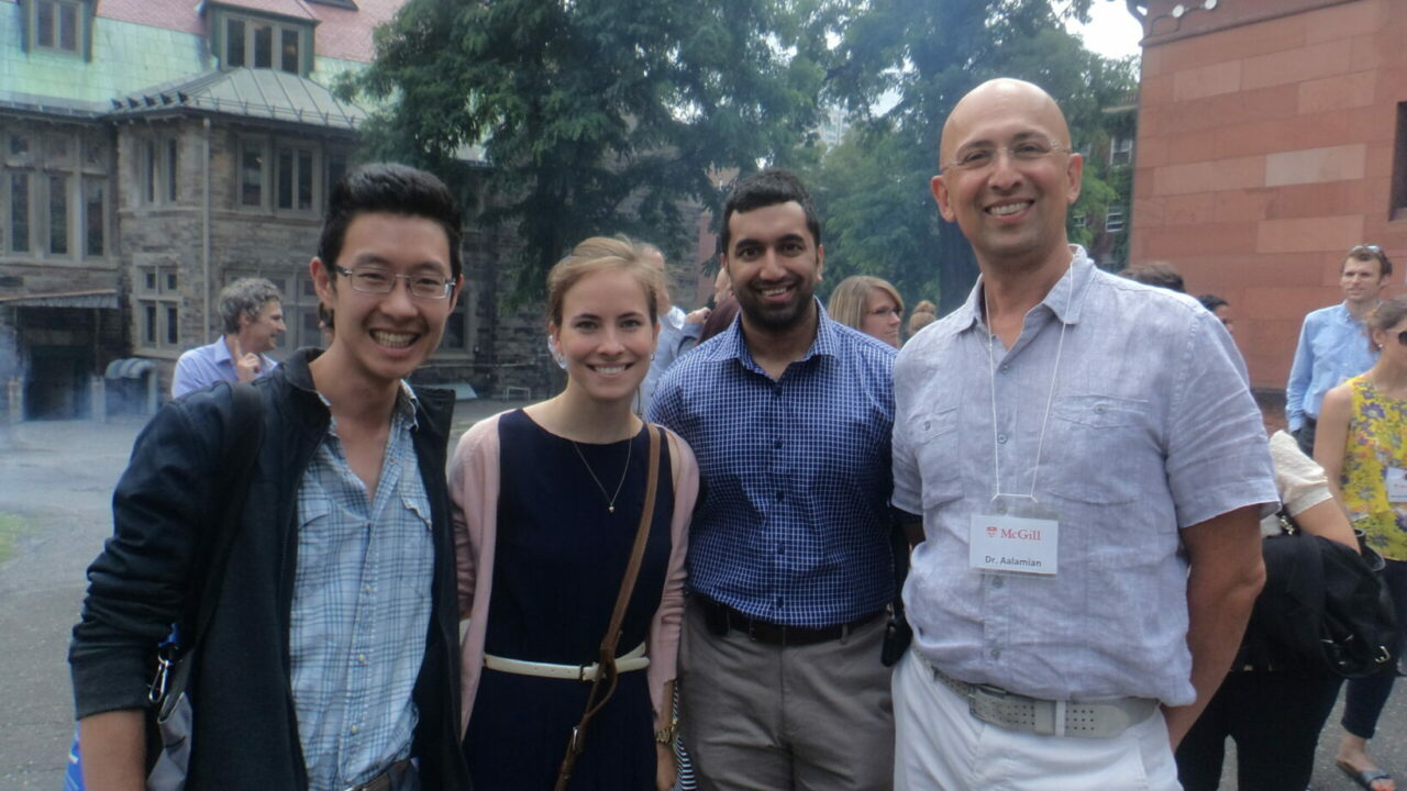 First year Residents with Dr. Armand Aalamian, right.