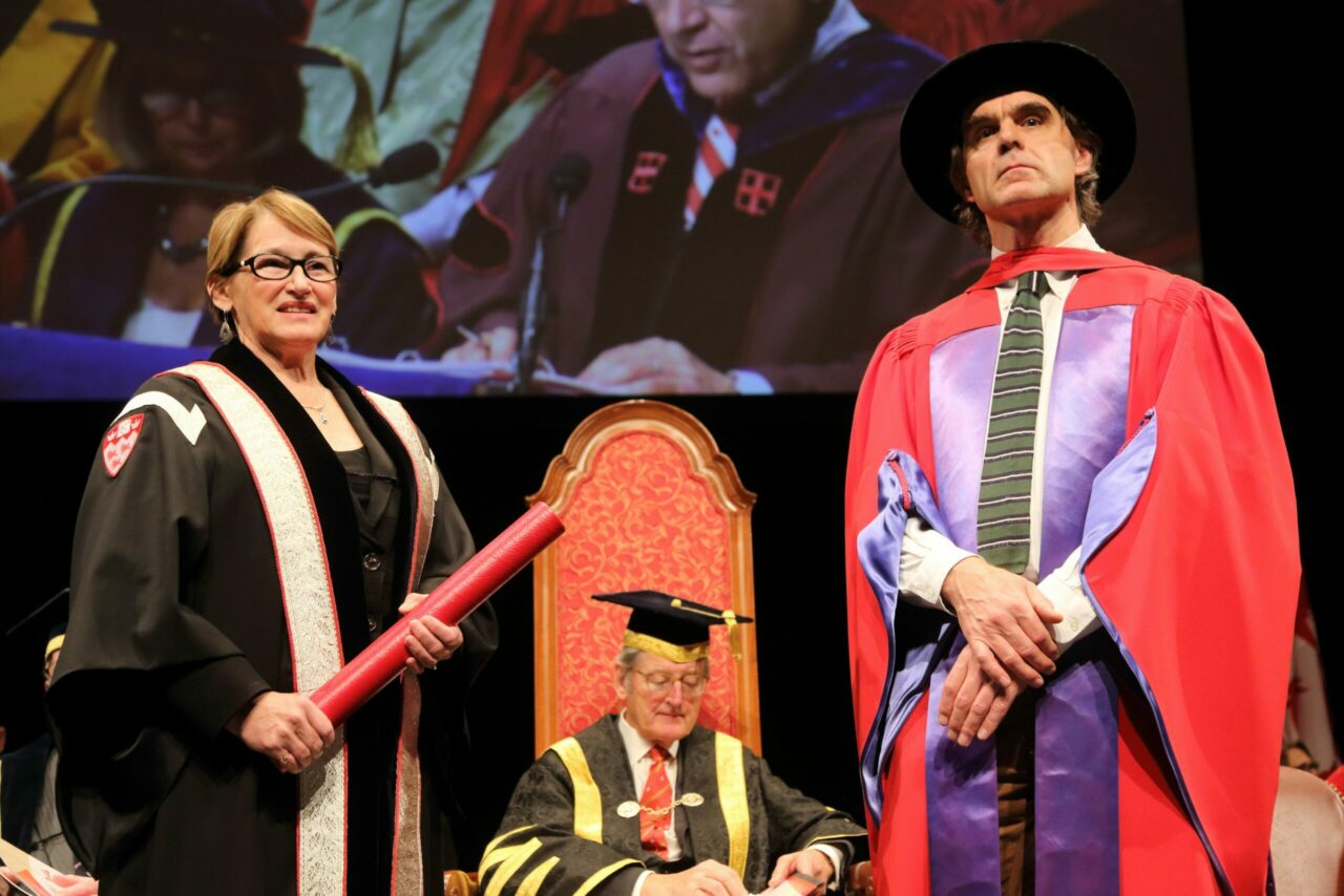 Professor Colin Chalk receiving his Principal's Prize for Excellence in Teaching. (Photo: Owen Egan)