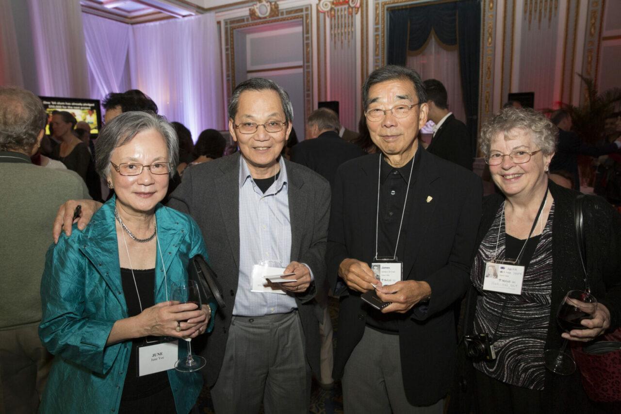 June Yee, Chok Yee, BSc'65, MDCM'69, James Chan, MDCM'64 and Anna Hope, BSc'65, MDCM'69. Dr. Chan says,