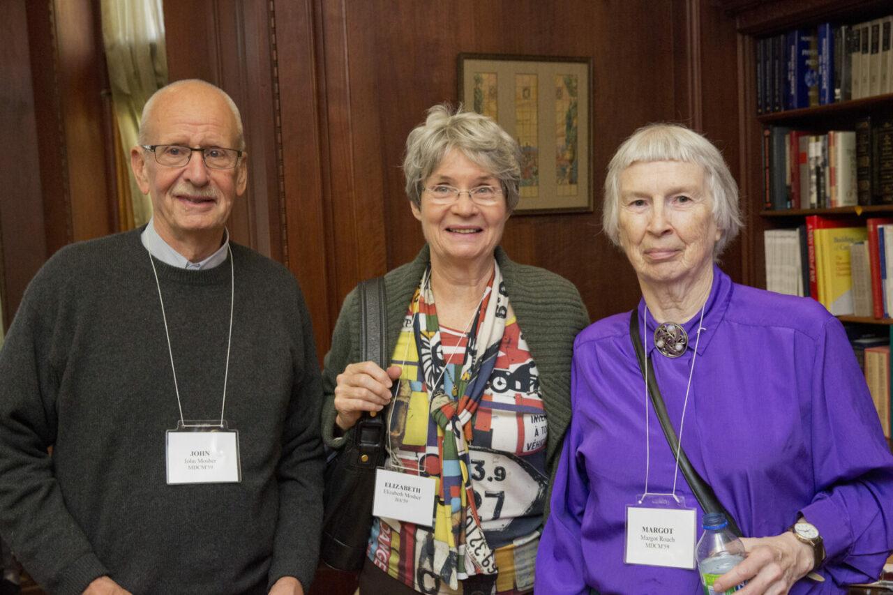 John Mosher, MDCM'59, Elizabeth Mosher, BA'59 and Margot Roach, MDCM'59. (photo: Nicolas Morin)