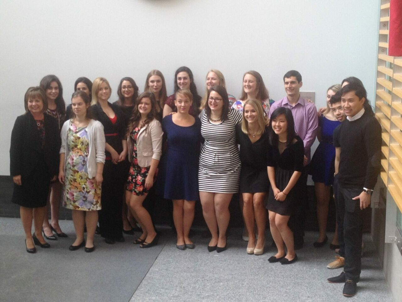 Nursing graduates and staff at the Ingram School of Nursing reception.