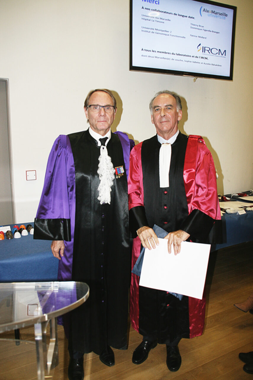 Dr Jacques Drouin (right) is photographed with Dr Yvon Berland