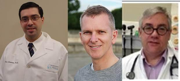Dr. Seno Adonian, Dr. Joseph Cox and Dr. Douglass Dalton