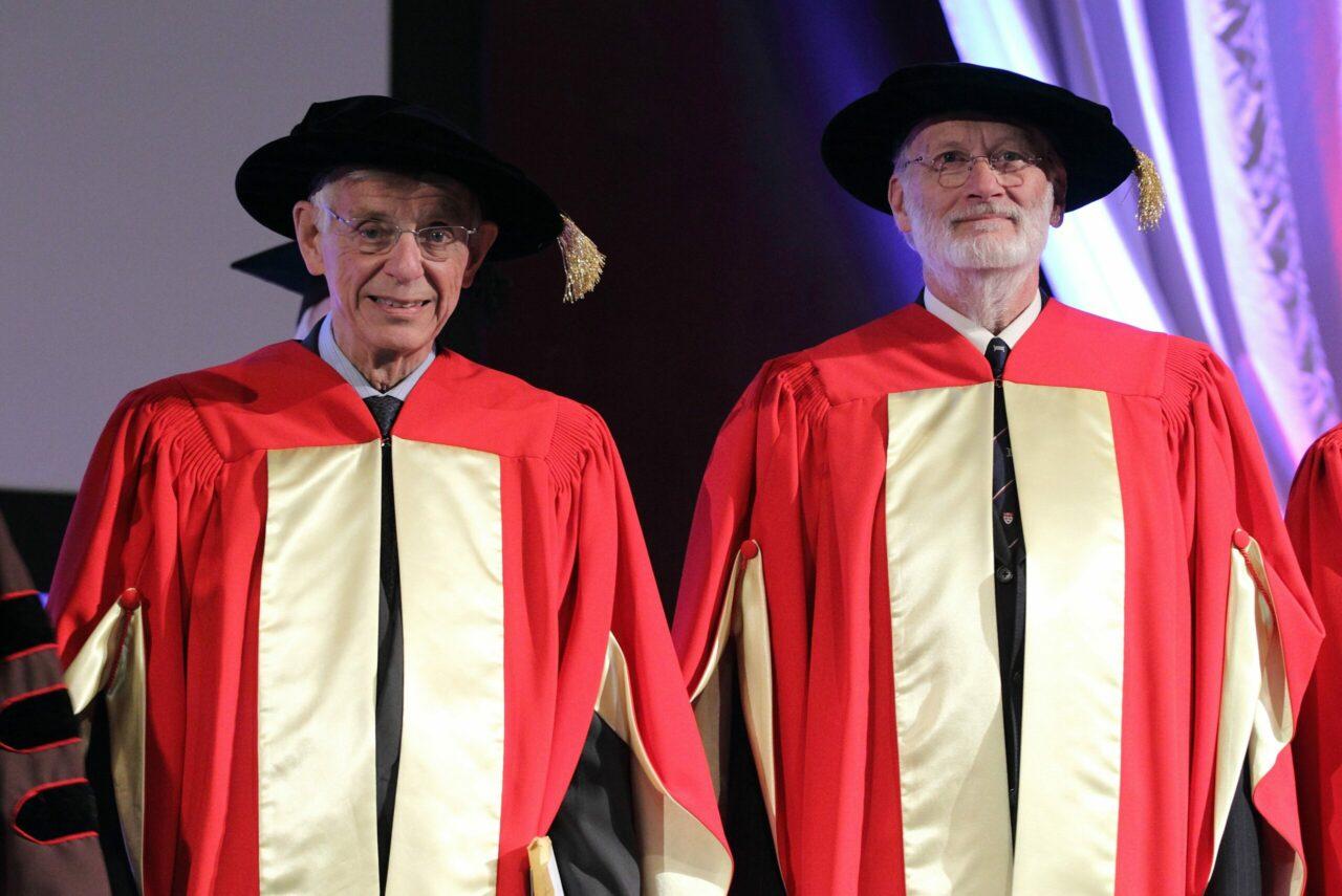 Dr. James C. Hogg and Dr. Jonathan L. Meakins (photo: Owen Egan)