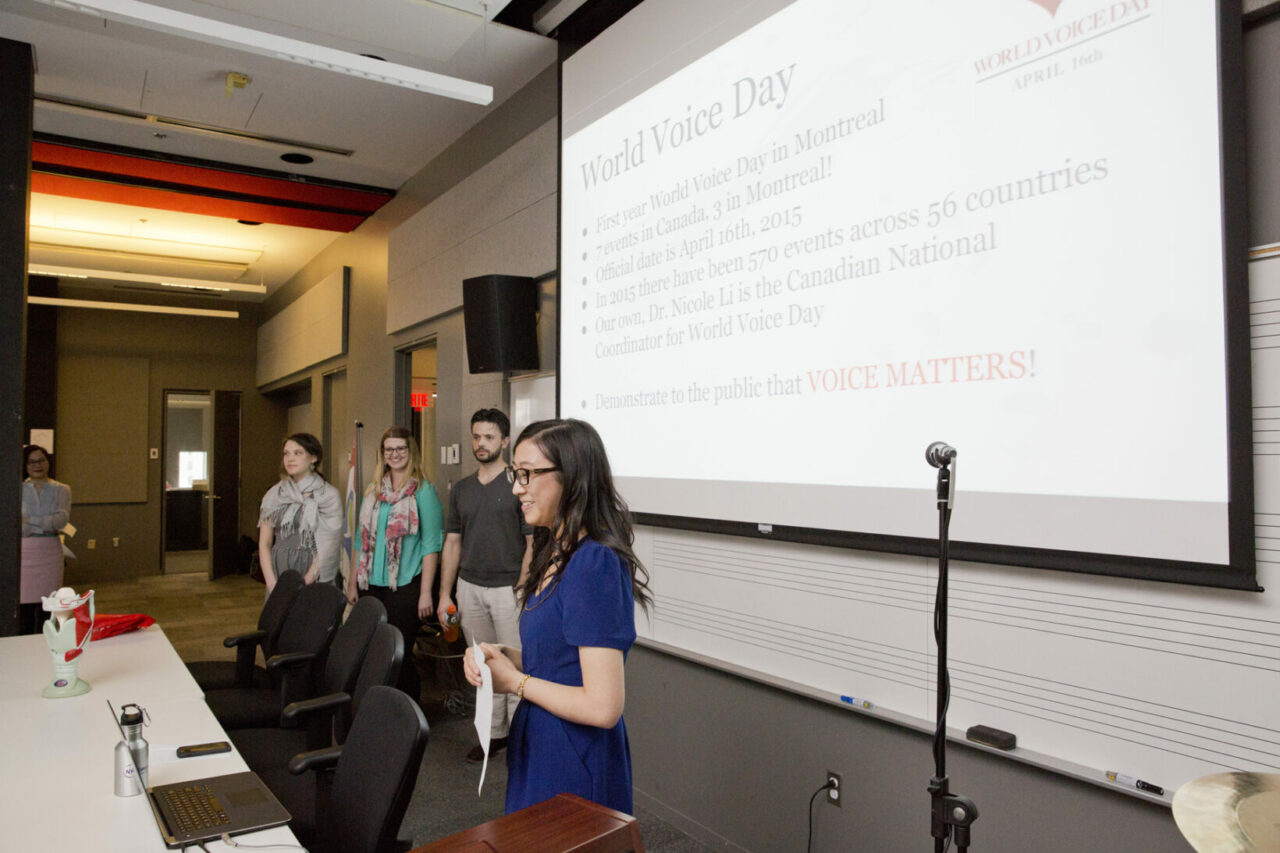 SCSD students report on the free voice screenings and  workshops. Photo: Nicolas Morin
