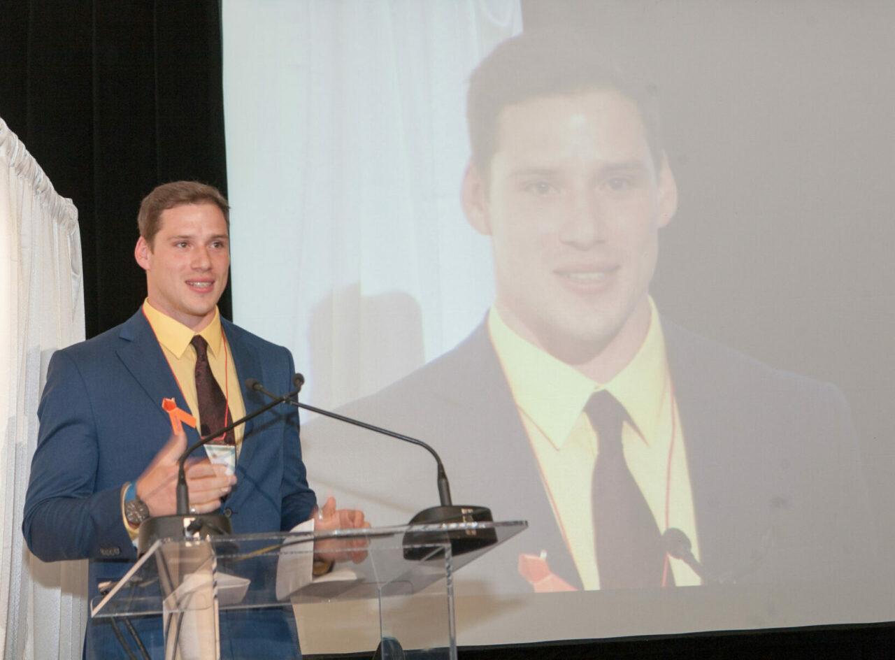 Nathaniel Robichaud, inaugural recipient of the Rosalind Goodman Commemorative Scholarship. (Photo: Ron Diamond)