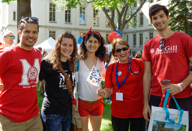 McGill Principal and Vice-Chancellor Suzanne Fortier was on hand during Saturday's festivities. / Photo: David Eidelman