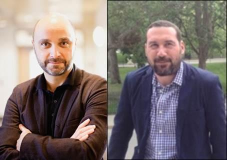Professors Sylvain Baillet (left) and J. Matt Kinsella (right)