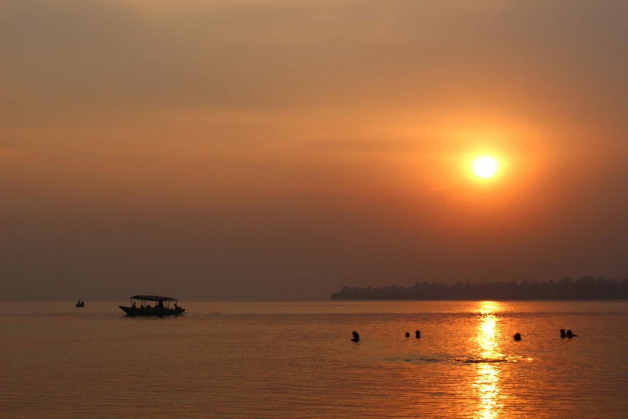 The sun sets over Lake Kivu in Gisenyi. / Photo: Ryan Adessky