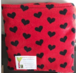 Black and red pillow