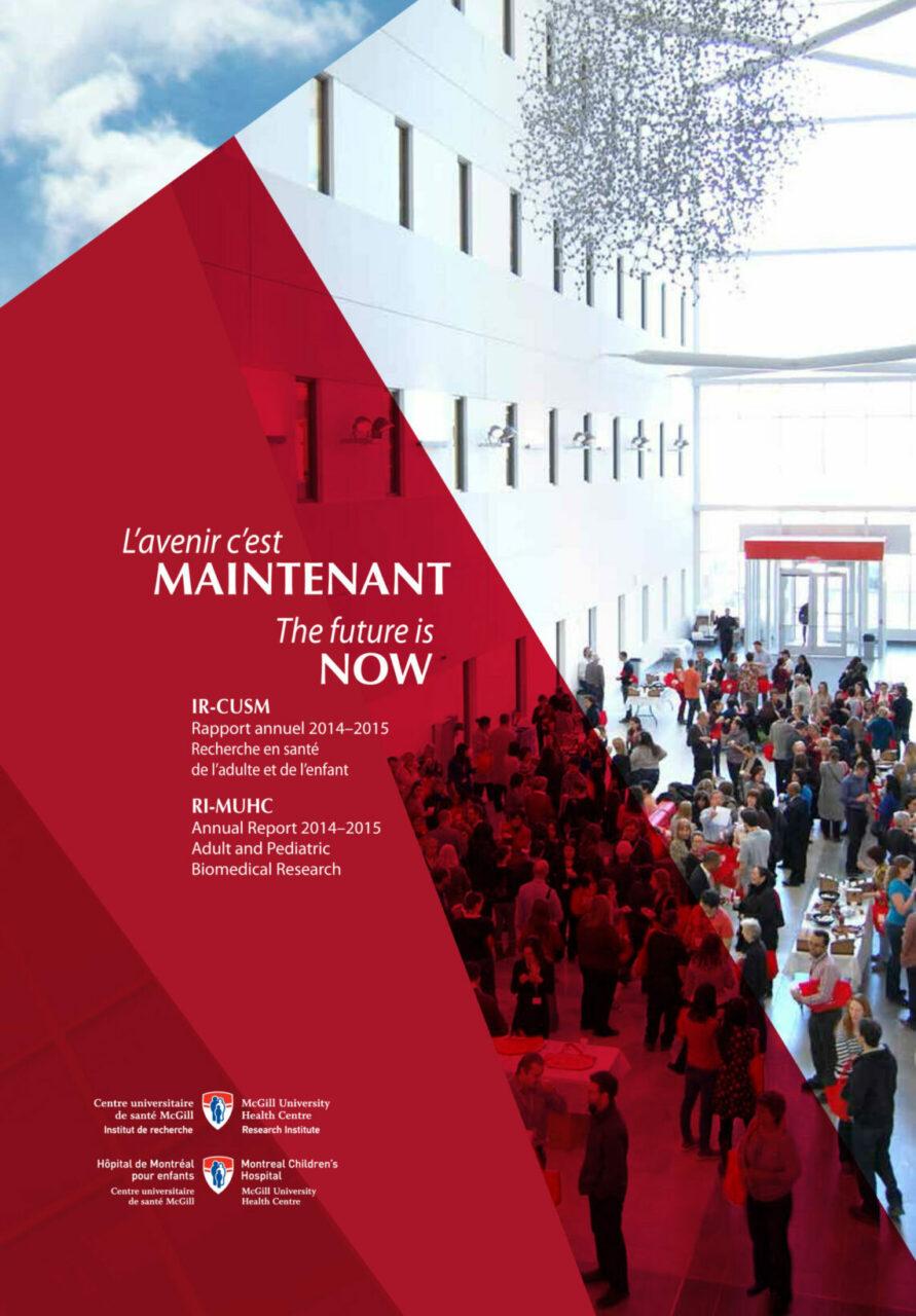 RI-MUHC Annual Report 14-15 cover
