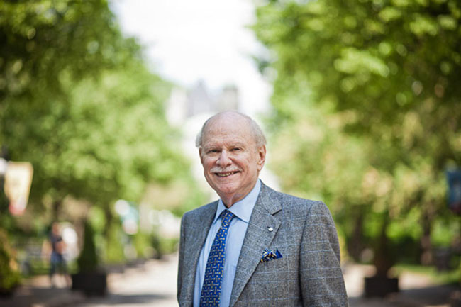 """""""Other than family, [being McGill's Chancellor] is the thing that's given me the most pride in my entire life,"""" said H. Arnold Steinberg in a 2014 interview. """"Nothing compares to this."""" / Photo: William Lew"""
