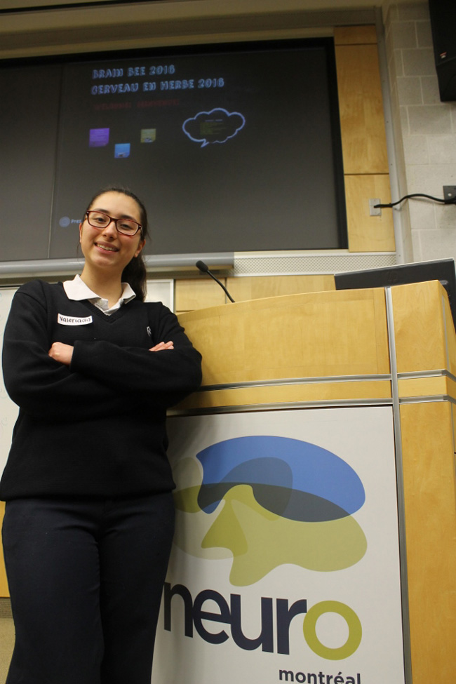 Valerie Hernandez of Collège Sainte-Marcelline won the competition and will compete at the national event at McMaster University. / Photo: Shawn Hayward
