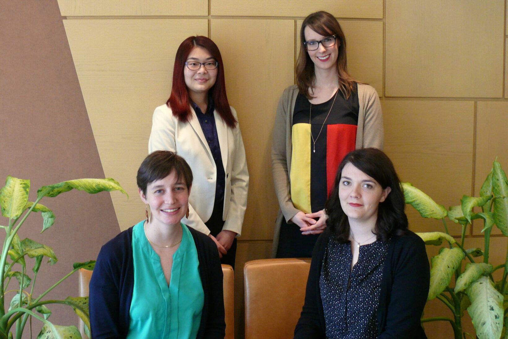 Bottom row (left to right): Charlotte Guillet, Rebecca Dorner; top row (left to right): Yan Jun Chen, Tracy Schaan.