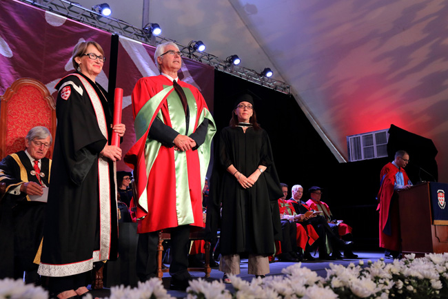 John Bergeron was awarded the McGill Medal as part of the Health Sciences ceremony. / Photo: Owen Egan