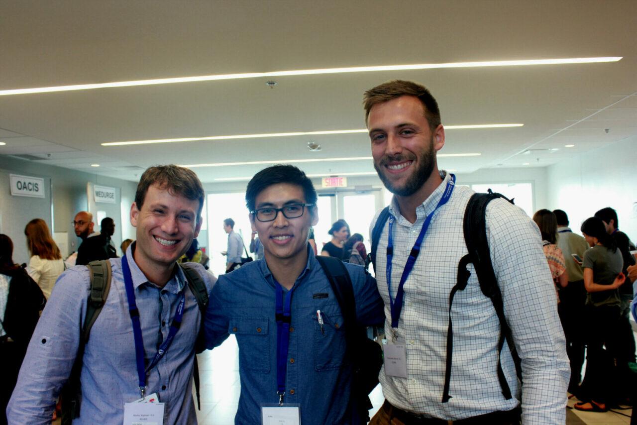 Rafael Rocha, fellow in Cardiac Surgery; Marcel Tomaszewski, Internal Medicine resident; Charles Nhan, Radiology resident.(Photo: Patricia Vasquez, MUHC)