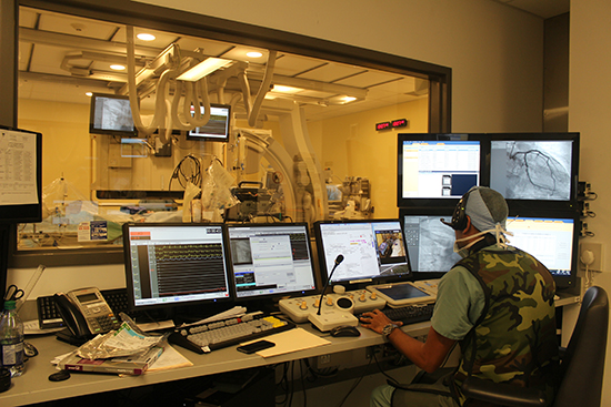 The MUHC Cath Lab, where life-saving cardiac procedures are carried out 24 hours a day, seven days a week. Photo: Gilda Salomone