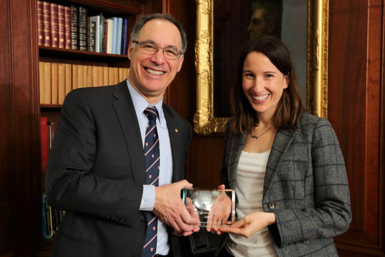 Dr. David Eidelman with Professor Jill Baumgartner (Photo: Owen Egan)