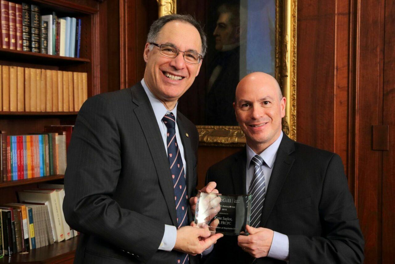 Dr. David Eidelman with Dr. Kent Saylor (Photo: Owen Egan)