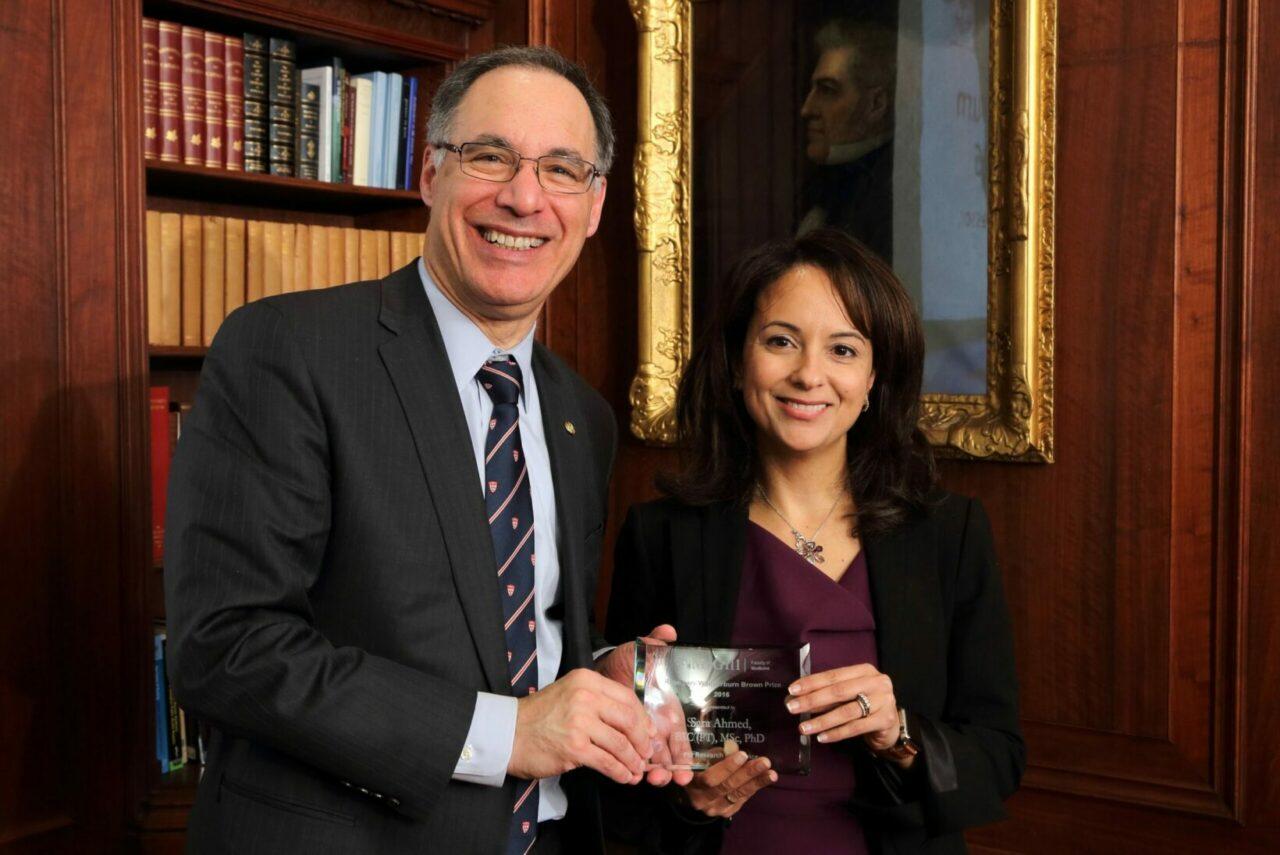 Dr. David Eidelman with Professor Sara Ahmed (Photo: Owen Egan)