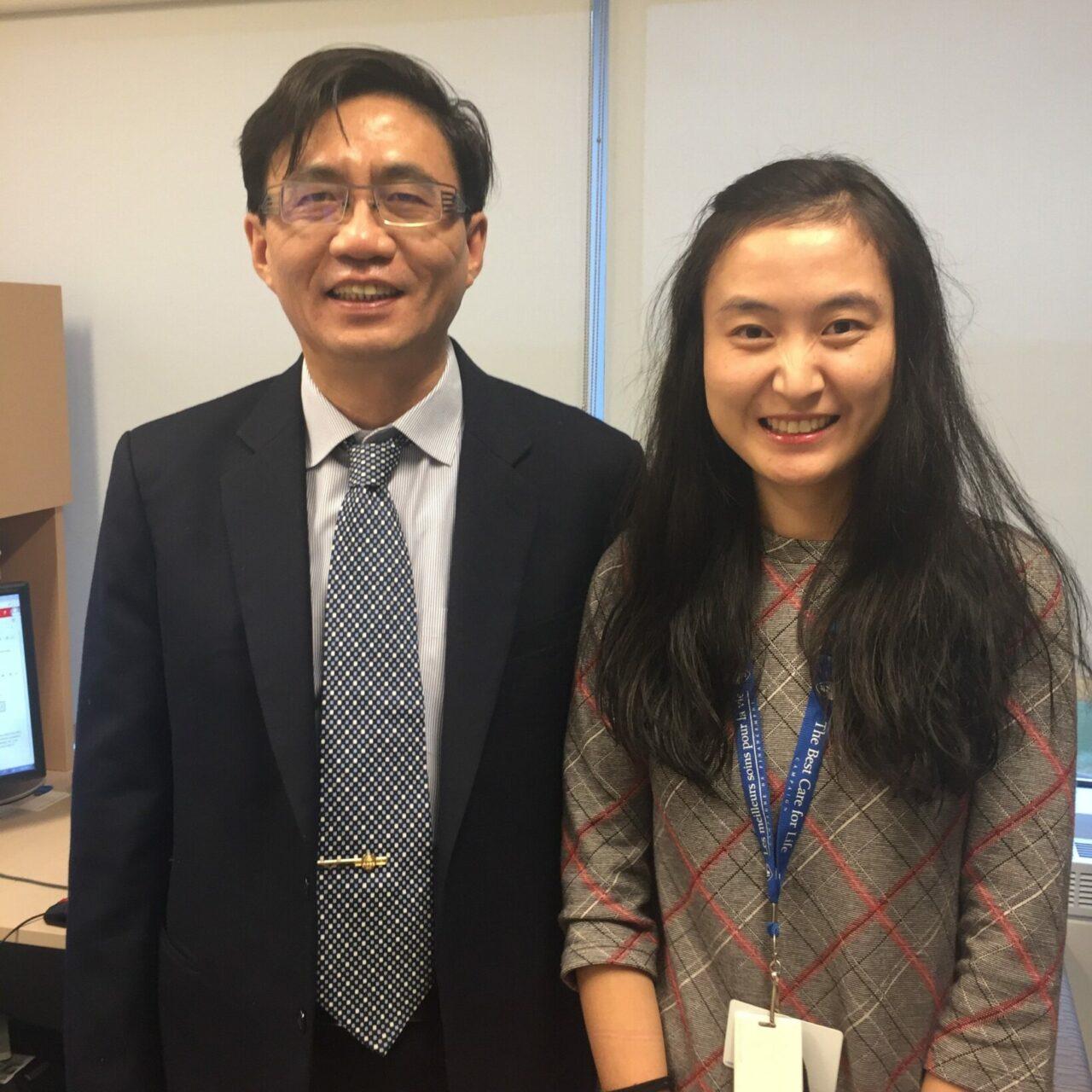 Dr. Zu-hua Gao (left) and graduate student Qing Li)