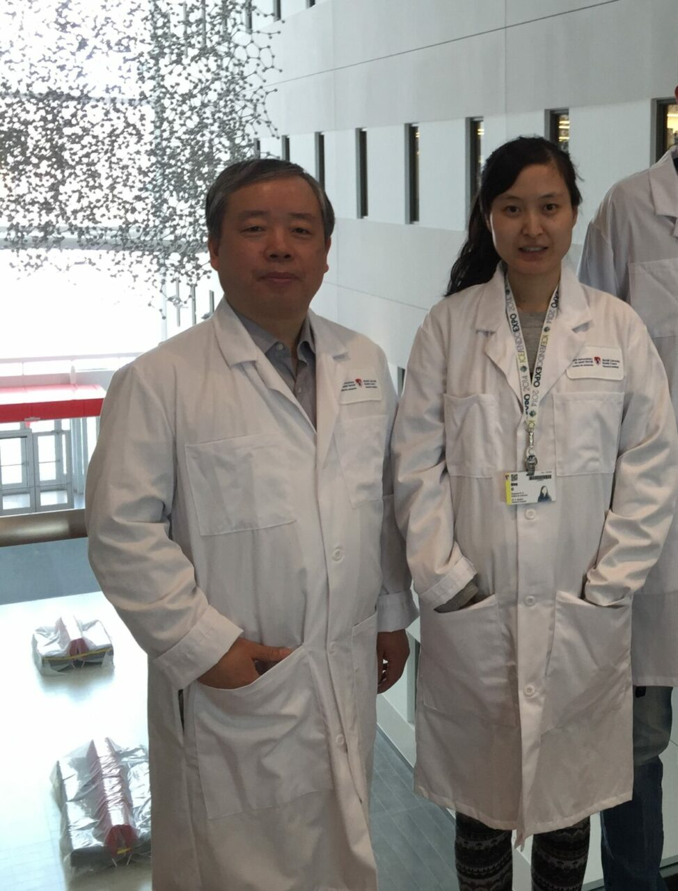 Dr. Jun-Li Liu (left) and graduate student Qing Li