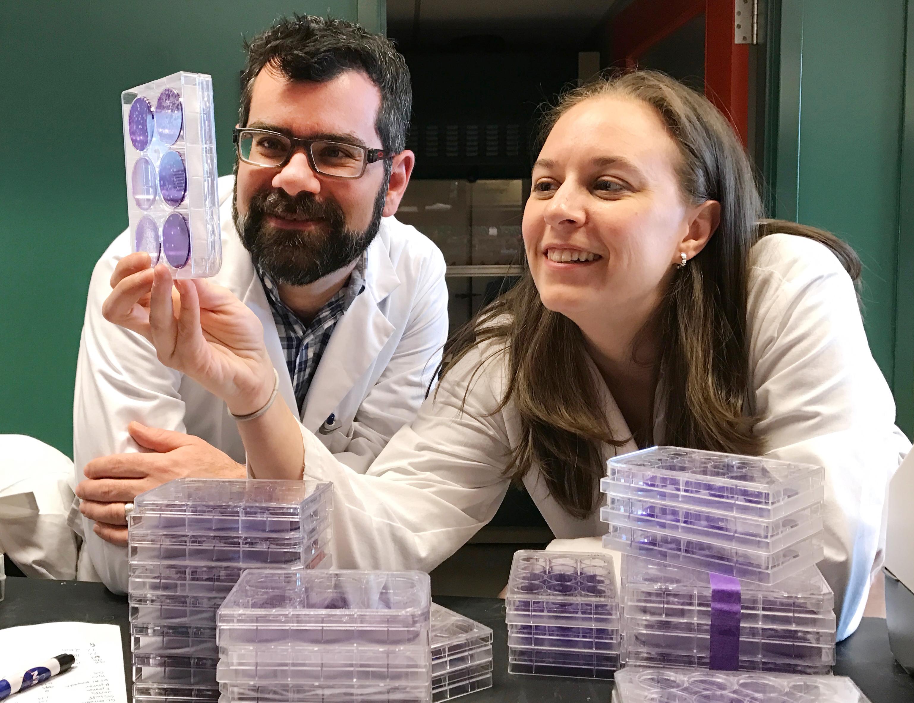 Drs. Martin Richer (left) and Selena Sagan