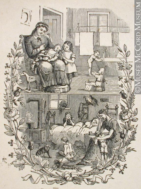 John Henry Walker (1831-1899), Family life. 1850-1885, wood engraving, 11.7 x 9.8 cm. From: McCord Museum, M930.50.2.263.