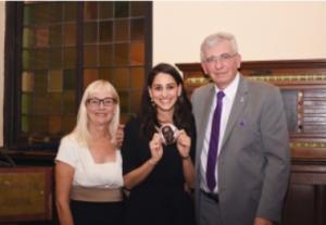 Maria Barrette (center) with Pam and Dr. Rolando Del Maestro.